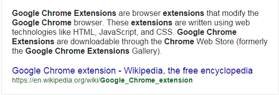 Explanation of what Google Chrome Extensions are