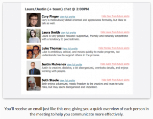 Screen shot of the meetings email that you will receive