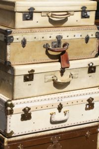 Suitcases for travelling